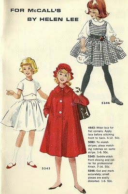 For McCall's by Helen Lee: I love the black and white gingham dress