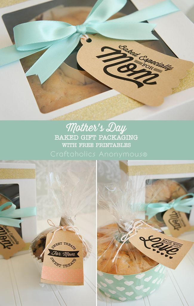 Free Mother's Day printables + packaging ideas. Super cute! Love the fonts she used.