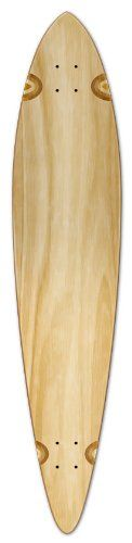 "Blank Longboard Deck PINTAIL 40"" X 9"" board W/ Free shipping, Natural. Size: 40"" X 9"". With perfeck Shrink Wrap. Free Shipping by UPS. With griptape on top."