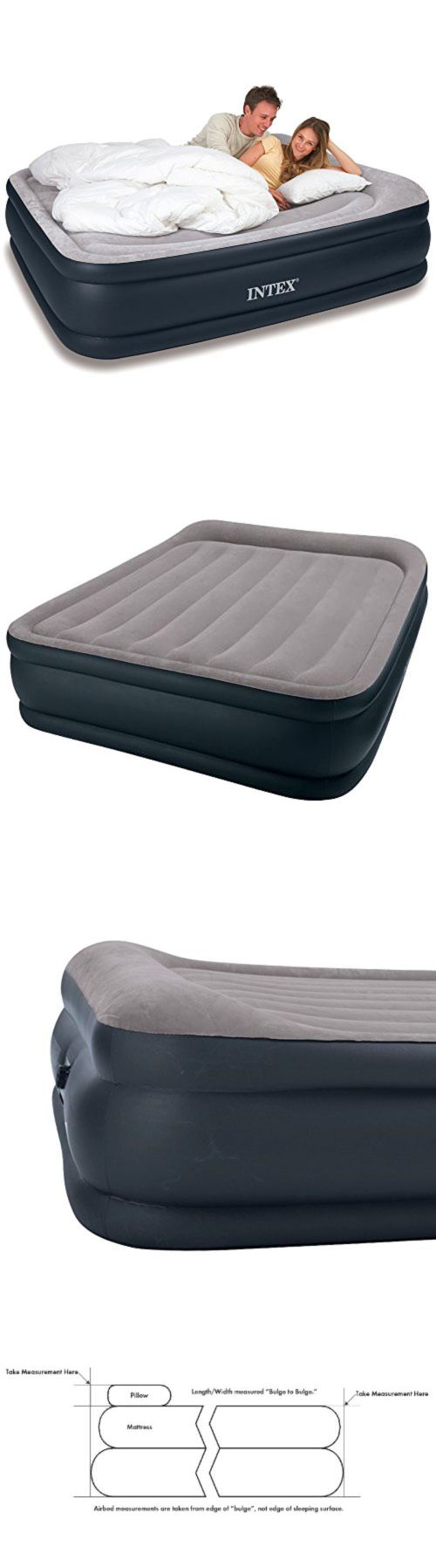 Other Camping Sleeping Gear 16040: Air Mattress Comfort Pillow Raised Queen Airbed Camping Sleeping Gear Bed Intex -> BUY IT NOW ONLY: $66.79 on eBay!