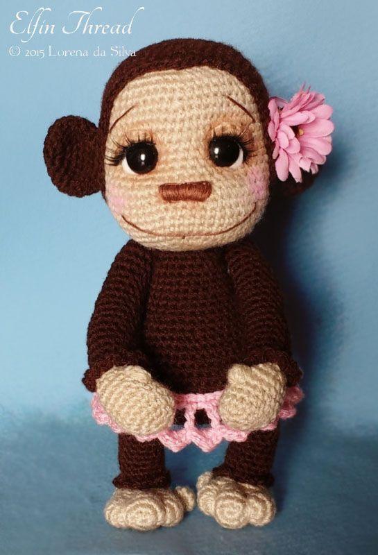 Naimba and Namboro, the Baby Monkeys amigurumi by Elfin Thread