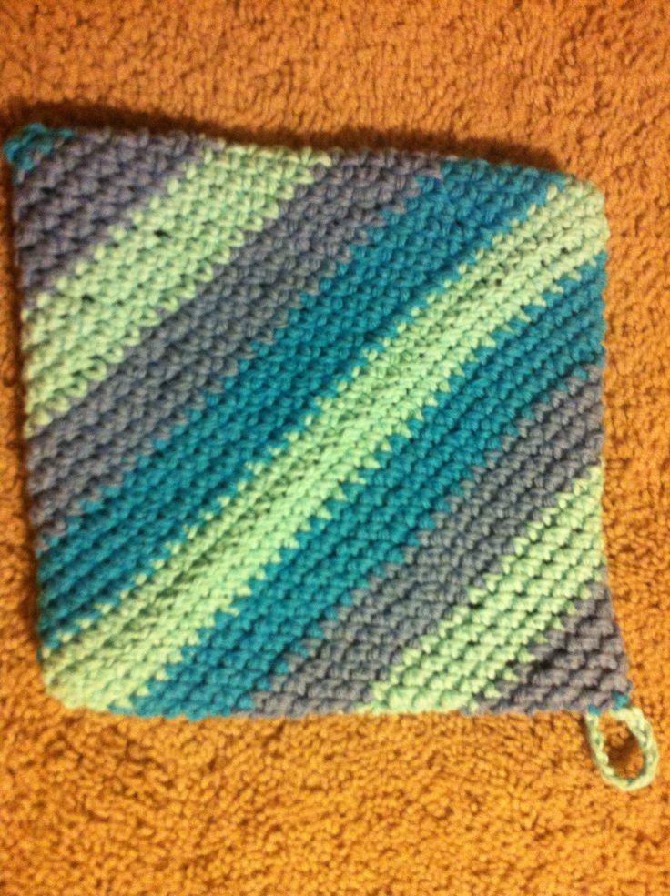 Free Crochet Pattern Diagonal Potholder Dancox For