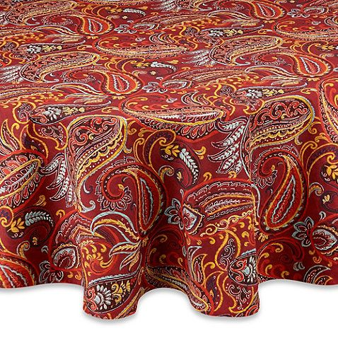 Buy Fiesta 174 Paisley 70 Inch Round Tablecloth From Bed Bath