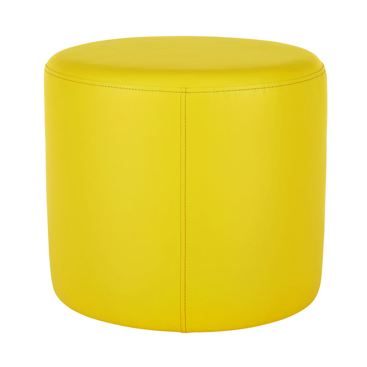 The brand new range of Bud ottomans will pop in any primary-coloured interior decorating scheme. Also available in yellow and red. Price $69.
