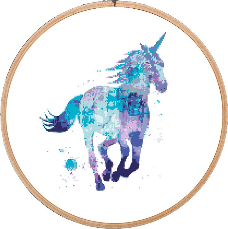 (10) Name: 'Embroidery : Unicorn Horse Cross Stitch Pattern
