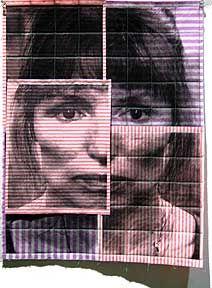 Sue Benner - Self-portrait: Sue, corrected, 2002 Laser printer on cloth - 21 x 16 inches