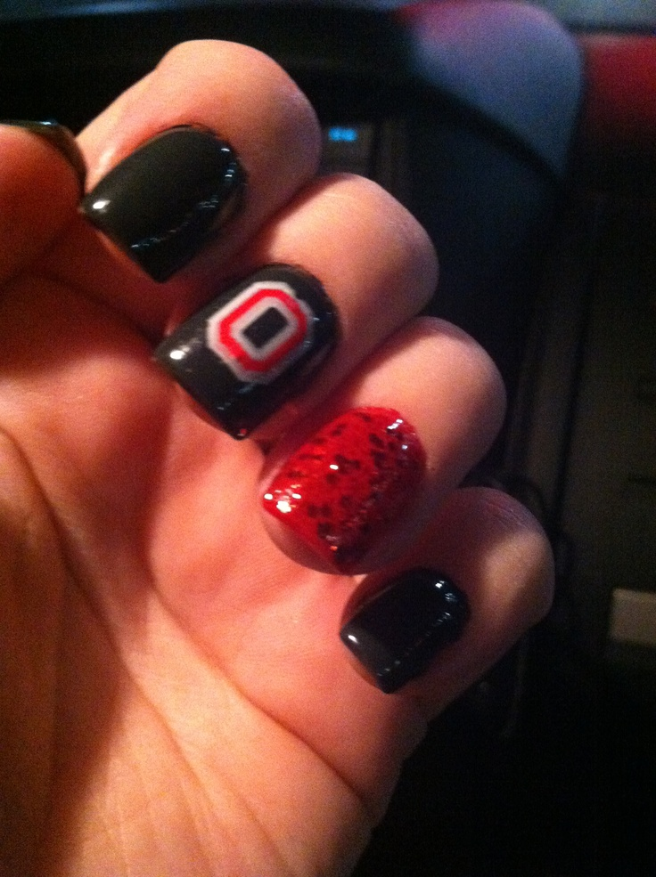 17 Best Images About Ohio State Nails On Pinterest Nail