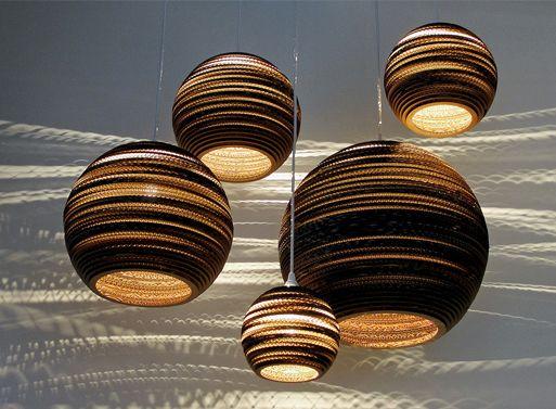 Graypants Scrap Cardboard Lamps — ACCESSORIES -- Better Living Through Design