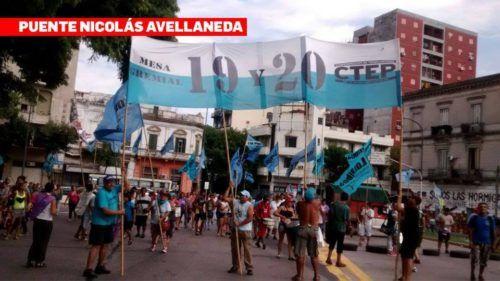 Argentina: Protesta con cortes de rutas y puentes en Capital y Gran Buenos Aires / La Mesa Gremial 19 y 20 de la CTEP se movilizó para repudiar al gobierno de Macri