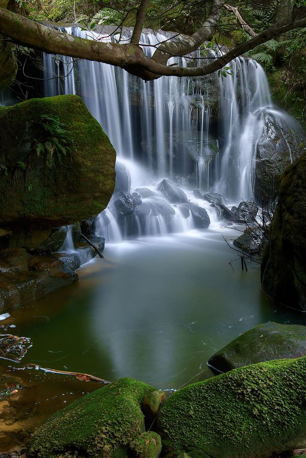 Leura Cascades in the Blue Mountains, Australia I Soooo Want to Go To Australia, this looks like an Amazing Place to be  <3