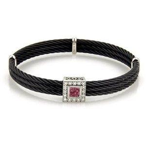 Pre-owned Philippe Charriol 18K White Gold & Stainless Steel Bracelet