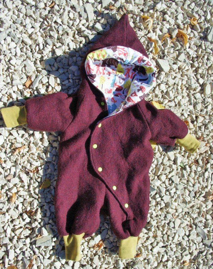 Anzug aus Wollwalk für kleine Zwerge