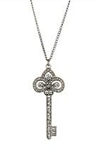Rhinestone Key Necklace - Forever 21