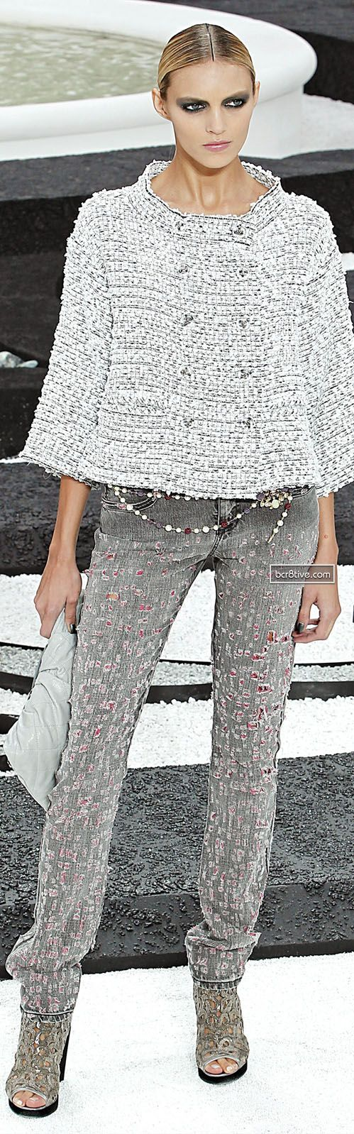 Chanel - love the streamlined look of the matching boot & pant