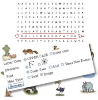 Word Search generator - use your current spelling words to create a puzzle.