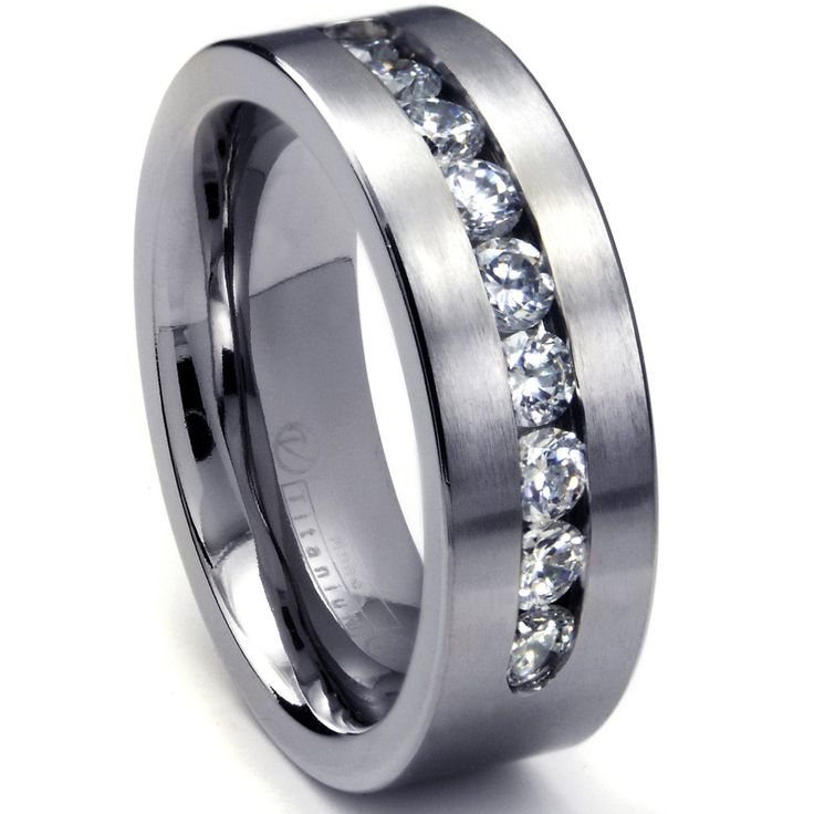 Masculine Stylish Mens Titanium Wedding Bands With And Without Diamonds    Http://weddingshome