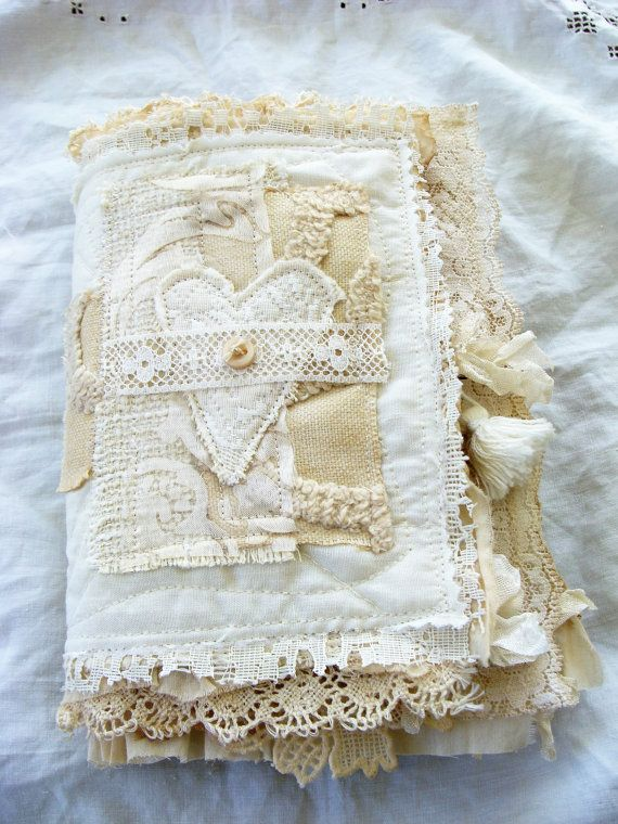 Handmade Fabric and Lace Journal - Book of Love No. 2 by ShabbySoul