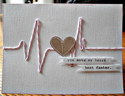 "Simple & Sweet ""you make my heart skip a beat"" Card..."