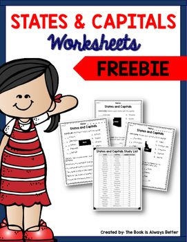 Do your students need some extra practice memorizing U.S. states and capitals? These worksheets are perfect!
