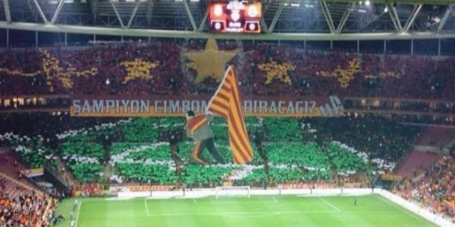 Liverpool legend Graeme Souness honoured by #Galatasaray tifo tribute