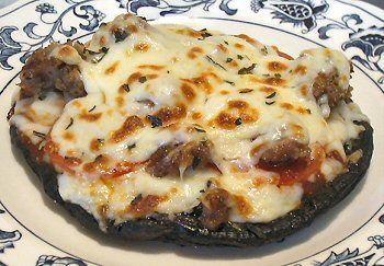 PORTOBELLO MUSHROOM PIZZA (Use light mozzarella for fewer calories)