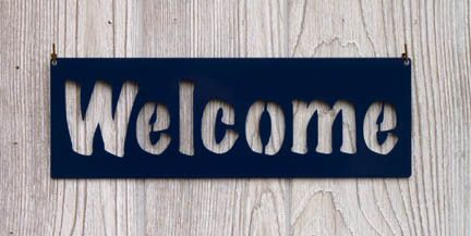 Welcome Sign - Classic Metal Company