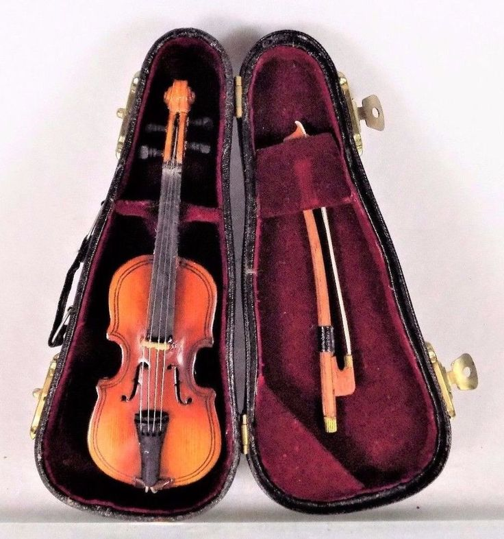 #Vintage #antique small #mini #miniature realistic #violin #music #musical #instrument with bow string, black detailing, shiny wooden finish, cutouts, fully intact strings, gold tone hinges and closures and carrying handle in fully working condition and solid red velvet lined black protective case #collectible #toy #replica piece, excellent used condition http://www.ebay.com/itm/VINTAGE-ANTIQUE-MINIATURE-REALISTIC-VIOLIN-with-BOW-STRING-CASE-COLLECTIBLE-TOY-/112460414339?hash=item1a2f29bd83