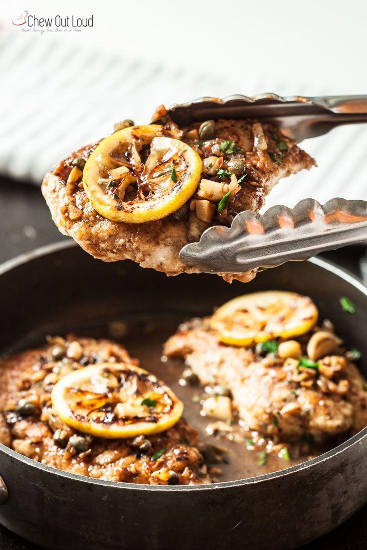Easy Healthy Chicken Piccata Recipe Chicken Piccata Recipe Italian Chicken Recipes Healthy Dinner Recipes Easy