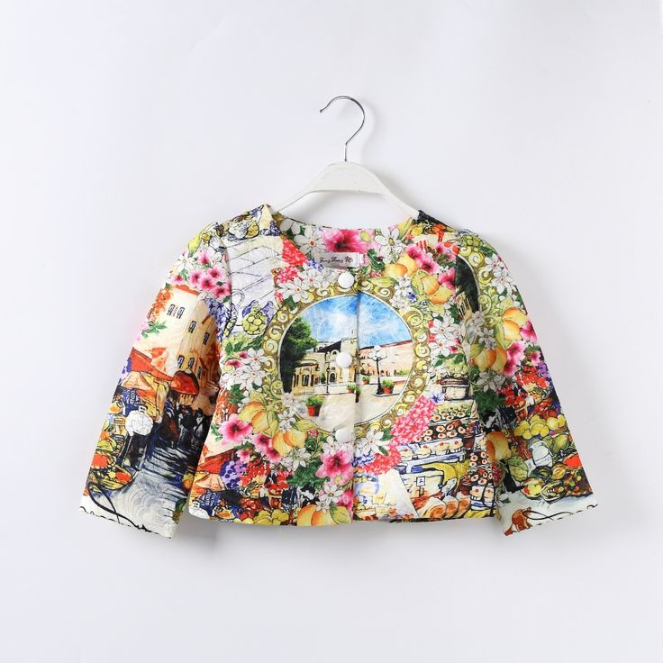 >> Click to Buy << Children's clothing 2016 new winter children's clothing girls short coat European style children's clothing printing for 2-9T #Affiliate