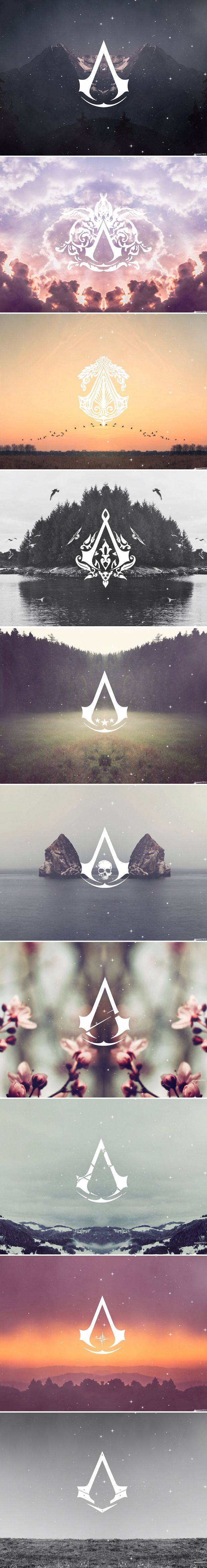Assassin's Creed Logos                                                                                                                                                     Mais