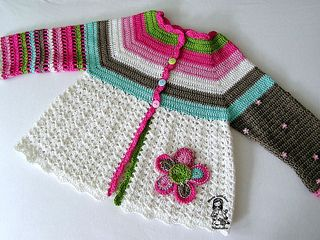 Flower Cardigan by Vendula Maderska, free crochet pattern on Ravelry.