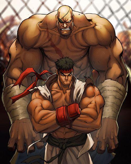 Ryu & Sagat / Street Fighter - Artwork