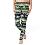 Seattle Seahawks Klew Women's Ugly Knit Leggings - College Navy