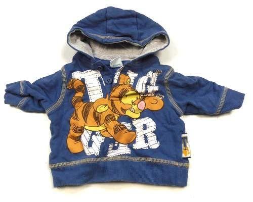 BRUMLA.CZ – Značkový dětský a dospělý second hand a outlet, použité oděvy pro děti a dospělé - Modrá mikinka s kapucí a Tygříkem zn. Disney