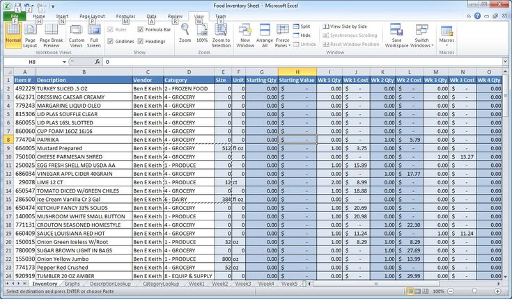 spreadsheet templates | At the far right of the spreadsheet there is a column named Cost of ...