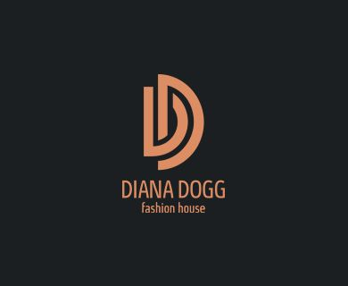 """Diana Dogg"" - логотип для модельера женской одежды из Исландии. Дизайнер - Ольга Шу. #логотип #лигатура #dianadogg #fashion #мода #одежда #стиль #гарсон #style #fashion #garsonstyle #logo #лого #дизайн #design #logodesign #logotype #tailroom #inspiration"