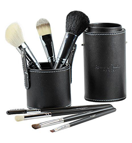 Beau Gâchis® Paris Makeup Brushes Natural Hair - Best Professional Quality 7 Piece Make up Brush Set Kit with Holder - Organizer - 100% LIFETIME GUARANTEE! Beau Gâchis Paris