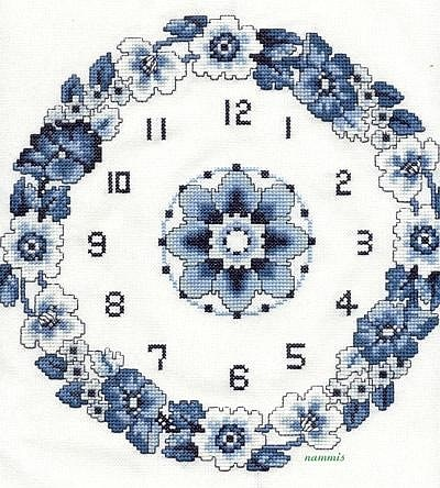 punto de cruz relojes www.hilosrosace.net