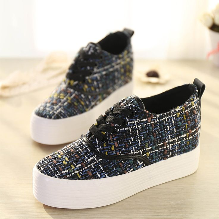 Lace-Up Creepers Platform Shoes for women