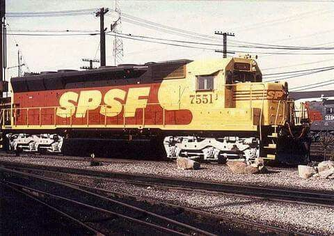 Sp In A Creepy Paint Scheme Southern Pacific Lines In