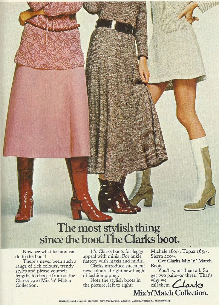 Clarks shoes adverts, Ireland 1970