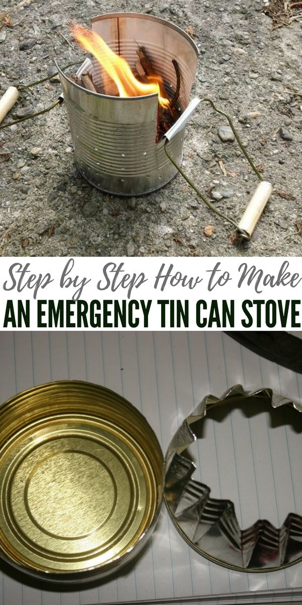 Step by Step How to Make an Emergency Tin Can Stove - A tin can stove works in one of two ways. For an indoor stove, the heat source is a candle or buddy burner