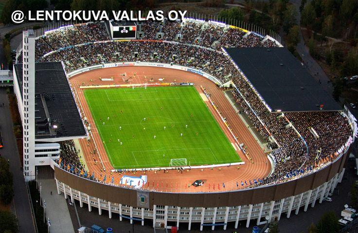 Helsinki, Suomi-Portugali -jalkapallo-ottelu Ilmakuva: Lentokuva Vallas Oy