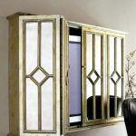 Vertical Wall Mirror Flat Screen Tv Entertainment Cabinet Small Decorative