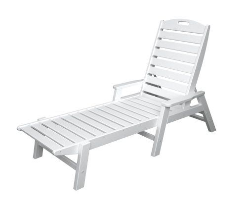 CLICK IMAGE TWICE FOR UPDATED PRICING AND INFO) SEE MORE patio lounge chairs at http://zpatiofurniture.com/index.php?cat=1716=meta_value=price=asc  Polywood Outdoor Furniture Nautical Stackable Chaise Lounge with Arms, White-Recycled Plastic Materials « zPatioFurniture.com