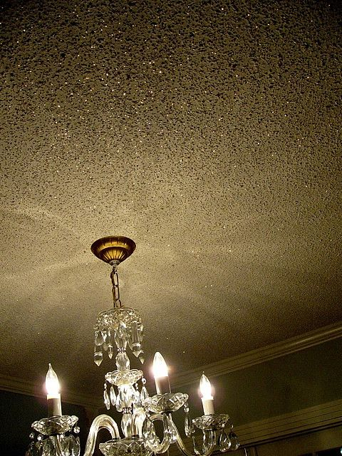 Glitter ceiling to go with the glitter walls in my future home.