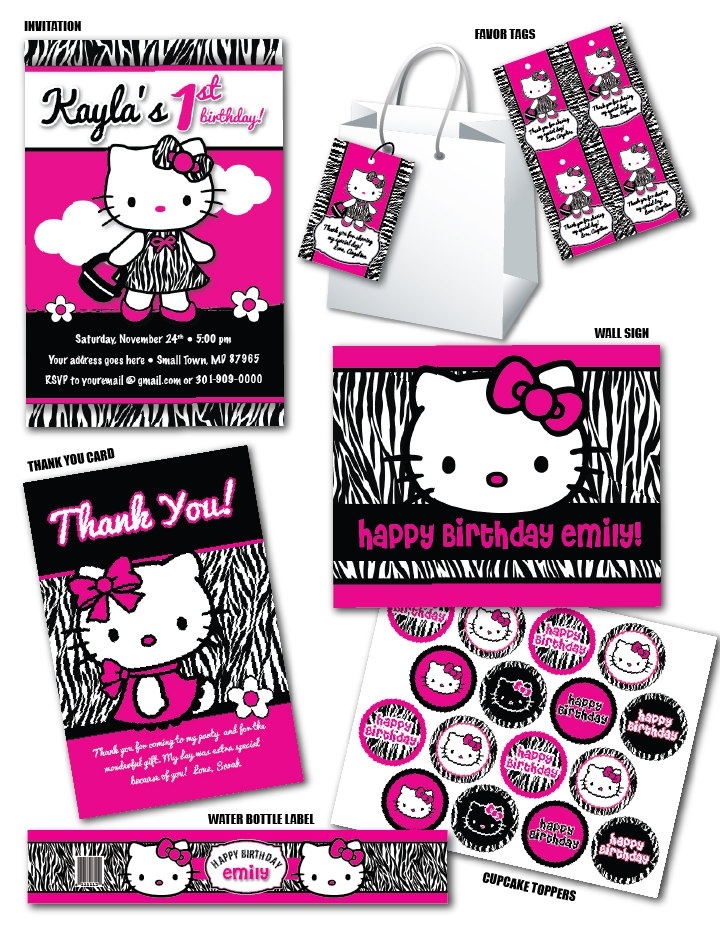 43 best cheetah zebra bday images on Pinterest Hello kitty