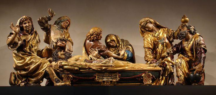 El entierro de Cristo, de Juan de Juni. En Valladolid.