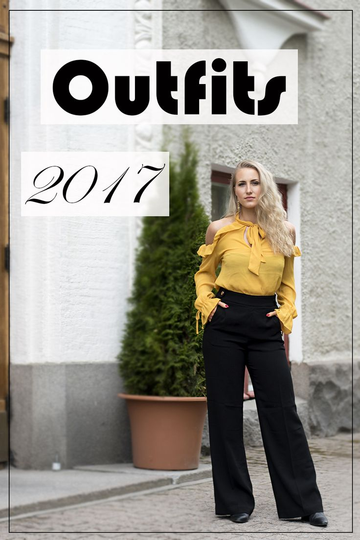 Summer, outfit, yellow blouse, off shoulder, suit pants, blonde curly hair, outfits, 2017, fall, winter, spring, trendy, style, classic,