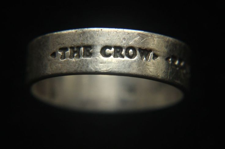 Rare The Crow Real Love is Forever engraved ring Brandon ...